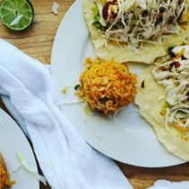 Baja Fish Taco Recipe With Grilled Pineapple And Chipotle Crema!